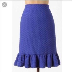 Royal Blue peplum Skirt from Anthropologie